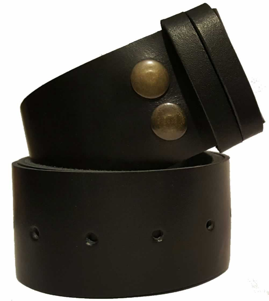 45 mm snap fit leather belt