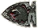 American Eagle Arrow Head Belt Buckle with display stand. Code NA7