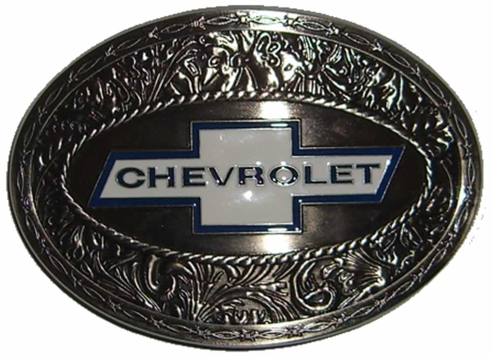Chevy Belt Buckles >> Chevrolet Oval Ornate Belt Buckle with display stand