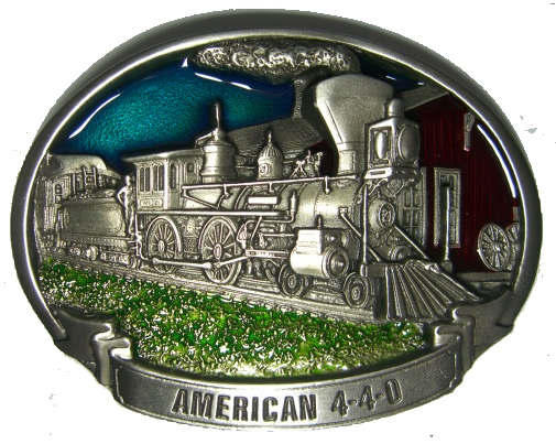 American Train Belt Buckle Display Stand