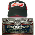 Budweiser Belt Buckles & Baseball Caps