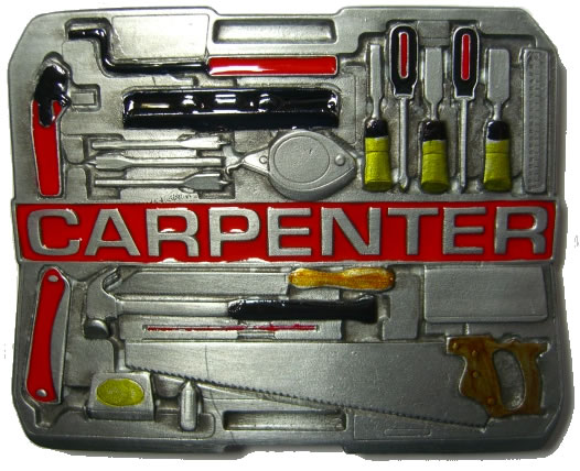 Carpenter Tool Box Belt Buckle Display Stand