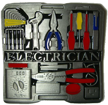 Electrician Tool Box Belt Buckle Display Stand