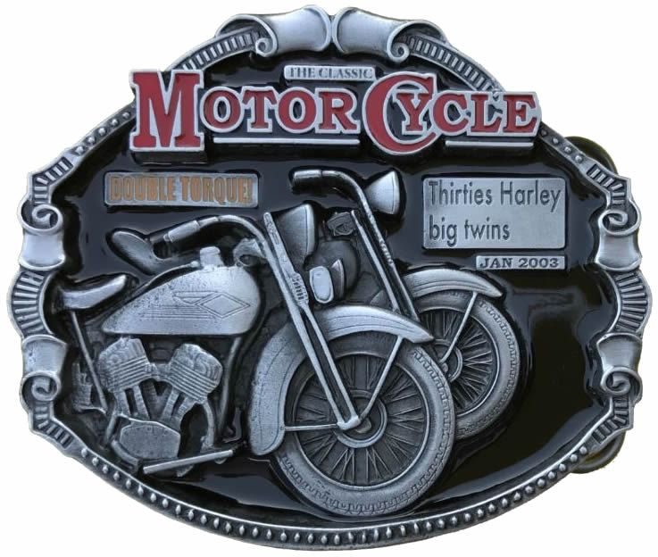 Harley Davidson Big Twins Motorcycle Belt Buckle with display stand  Code  SK4