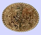 Large Rodeo Belt Buckle + display stand. Code JF6