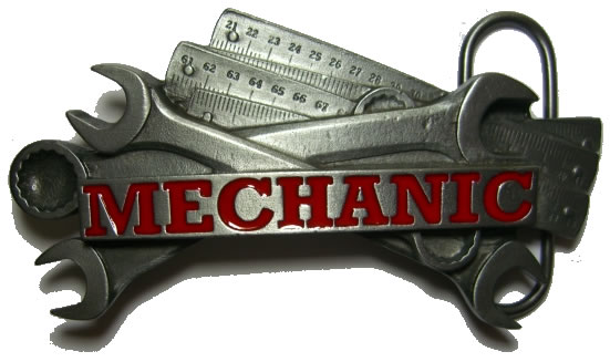 Mechanic Tools Belt Buckle Display Stand Code Jc6