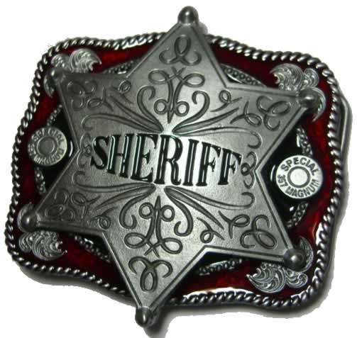 Sheriff Badge Belt Buckle Display Stand