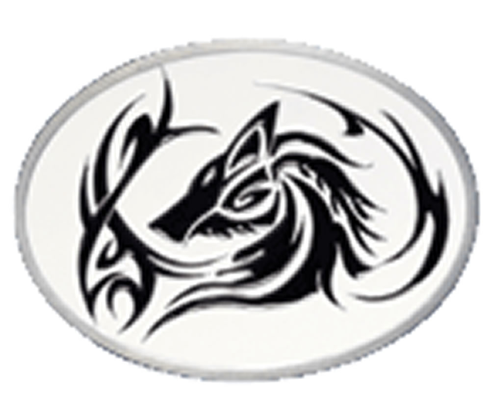 Tribal Wolf Head Tattoo Belt Buckle With Display Stand Product Code