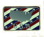 USA - MAP Belt Buckle + display stand Code JA6